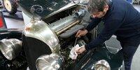 Ein klassischer Bentley wird winterfest gemacht