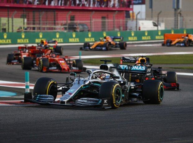 Lewis Hamilton, Max Verstappen, Charles Leclerc, Sebastian Vettel
