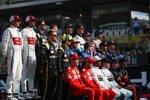 Kimi Räikkönen (Alfa Romeo), Antonio Giovinazzi (Alfa Romeo), Romain Grosjean (Haas), Kevin Magnussen (Haas), Robert Kubica (Williams), George Russell (Williams), Sergio Perez (Racing Point), Lance Stroll (Racing Point), Nico Hülkenberg (Renault), Daniel Ricciardo (Renault), Carlos Sainz (McLaren), Lando Norris (McLaren), Pierre Gasly (Toro Rosso), Daniil Kwjat (Toro Rosso), Charles Leclerc (Ferrari), Sebastian Vettel (Ferrari), Lewis Hamilton (Mercedes), Valtteri Bottas (Mercedes), Max Verstappen (Red Bull) und Alexander Albon (Red Bull)