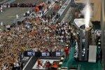 Max Verstappen (Red Bull), Lewis Hamilton (Mercedes) und Charles Leclerc (Ferrari)