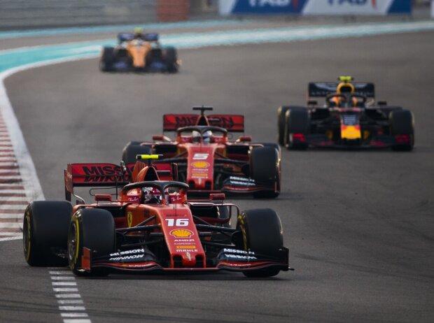 Charles Leclerc, Sebastian Vettel, Alexander Albon, Carlos Sainz