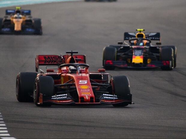 Sebastian Vettel, Alexander Albon, Lando Norris