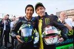 Lewis Hamilton und Valentino Rossi