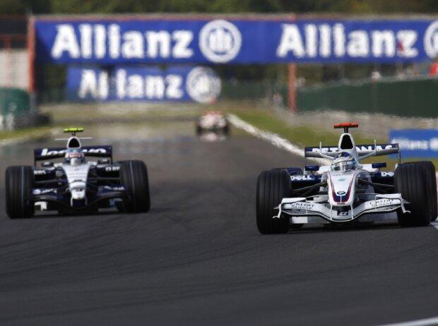 Alexander Wurz (Williams) und Nick Heidfeld (BMW-Sauber)