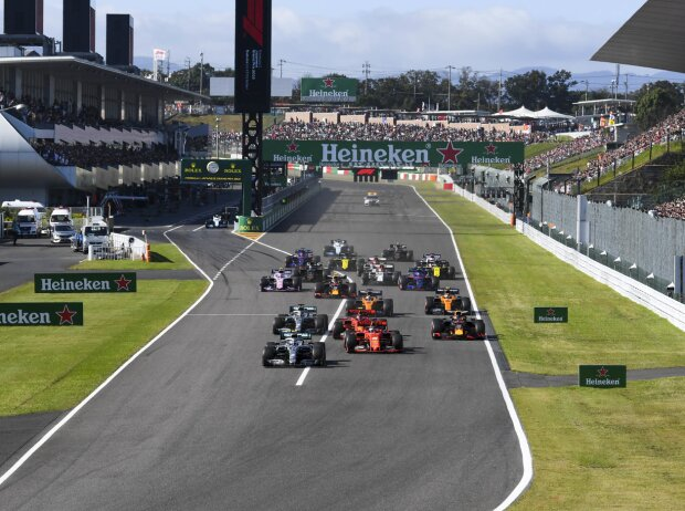 Valtteri Bottas, Sebastian Vettel, Charles Leclerc, Lewis Hamilton, Max Verstappen