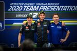 Maverick Vinales, Valentino Rossi und Jorge Lorenzo