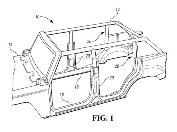 Ford Bronco: Patent eines Rohrrahmens