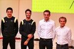 Esteban Ocon (Renault), Daniel Ricciardo (Renault), Cyril Abiteboul, Alain Prost