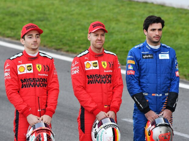 Charles Leclerc, Sebastian Vettel, Carlos Sainz