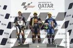 Tetsuta Nagashima (KTM Ajo), Lorenzo Baldassarri (Pons) und Enea Bastianini (Italtrans)