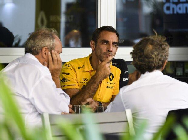 Alain Prost, Cyril Abiteboul, Zak Brown
