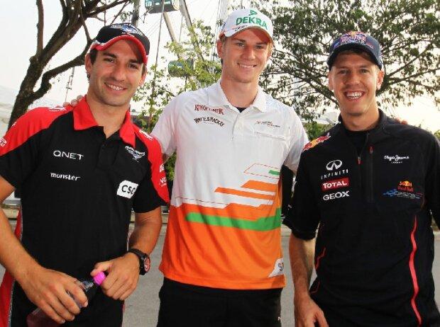 Nico Hülkenberg, Sebastian Vettel, Timo Glock