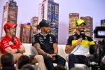 Sebastian Vettel (Ferrari), Lewis Hamilton (Mercedes) und Daniel Ricciardo (Renault)