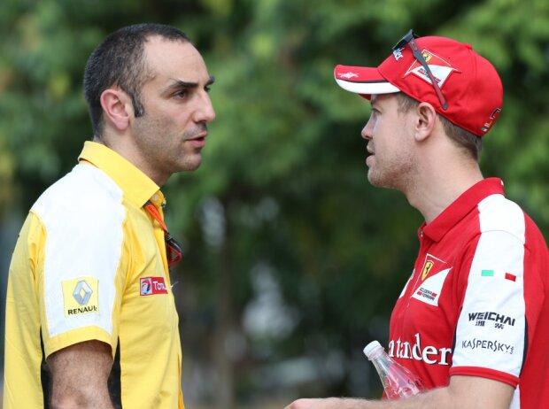 Cyril Abiteboul, Sebastian Vettel