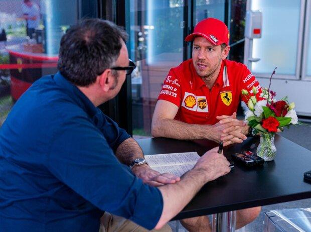 Roberto Chinchero und Sebastian Vettel