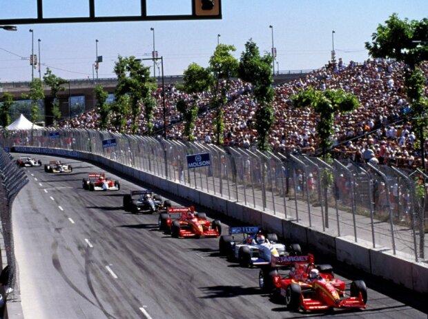 CART in Vancouver 1997: Alex Zanardi, Bobby Rahal, Jimmy Vasser, Michael Andretti, Mauricio Gugelmin, Bryan Herta, Gil de Ferran