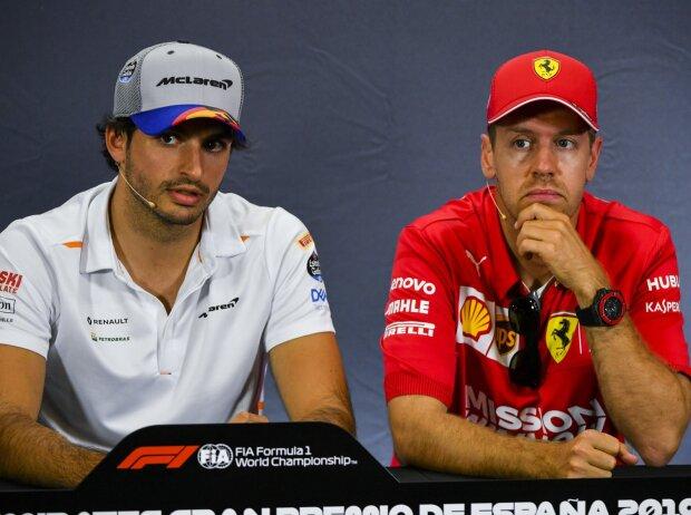 Carlos Sainz, Sebastian Vettel