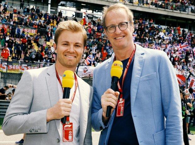 Nico Rosberg und Florian König von RTL