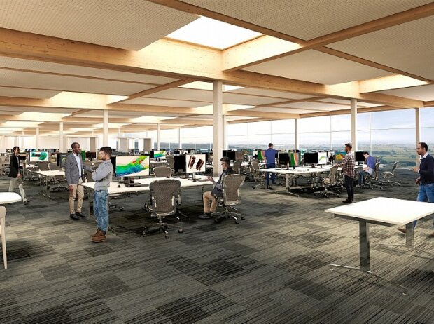 3D-Visualisierung der neuen Racing-Point-Fabrik in Silverstone