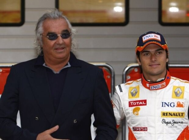 Fernando Alonso, Flavio Briatore, Nelson Piquet Jun.