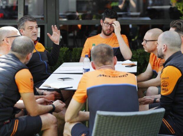 McLaren-Mitarbeiter in Melbourne