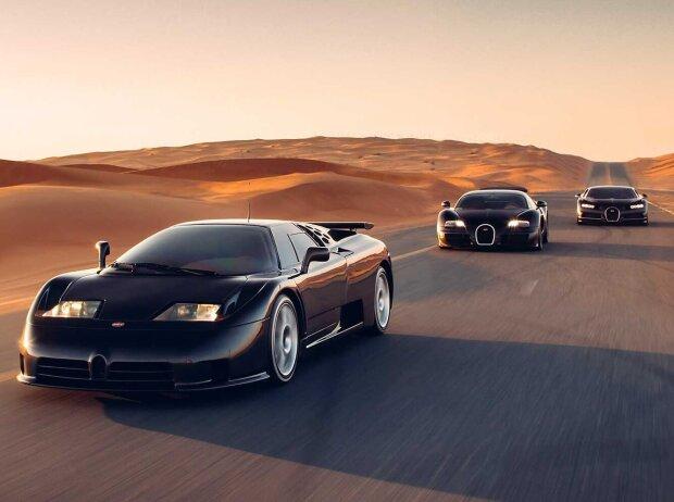 Bugatti EB110, Veyron, Chiron