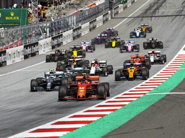 Charles Leclerc, Valtteri Bottas, Lewis Hamilton, Max Verstappen, Lando Norris, Kimi Räikkönen