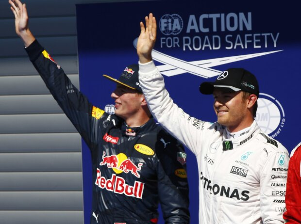 Kimi Räikkönen, Nico Rosberg, Max Verstappen