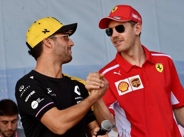 Daniel Ricciardo, Sebastian Vettel