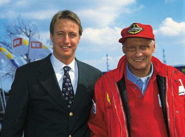 Florian König und Niki Lauda