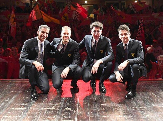 Sebastian Vettel, Marc Gene, Charles Leclerc