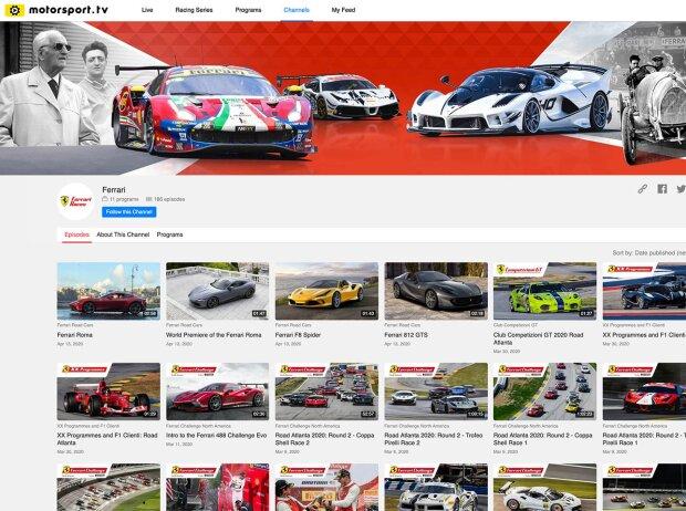 Ferrari-Kanal von Motorsport.tv