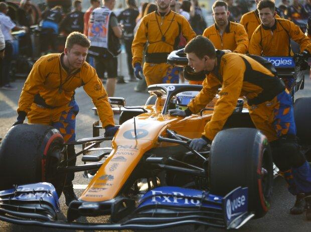 Lando Norris, McLaren-Mechaniker