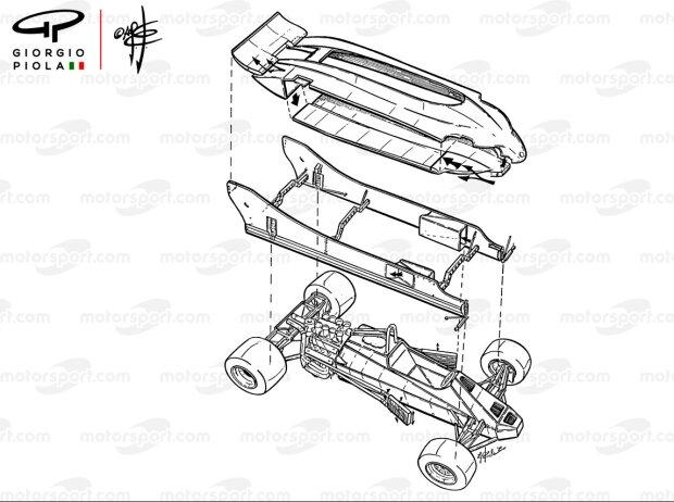 Doppelchassis-Konzept am Lotus 88