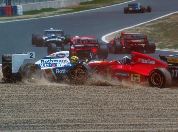 Nicola Larini, Ayrton Senna