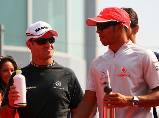 Rubens Barrichello, Lewis Hamilton