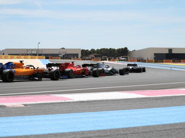 Lewis Hamilton, Valtteri Bottas, Charles Leclerc, Carlos Sainz