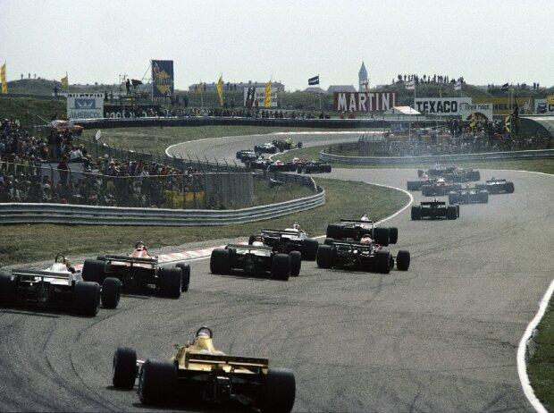 Rennstart in Zandvoort 1981