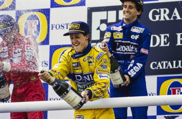 Michael Schumacher Alain Prost   ~Ayrton Senna, Alain Prost und Michael Schumacher~