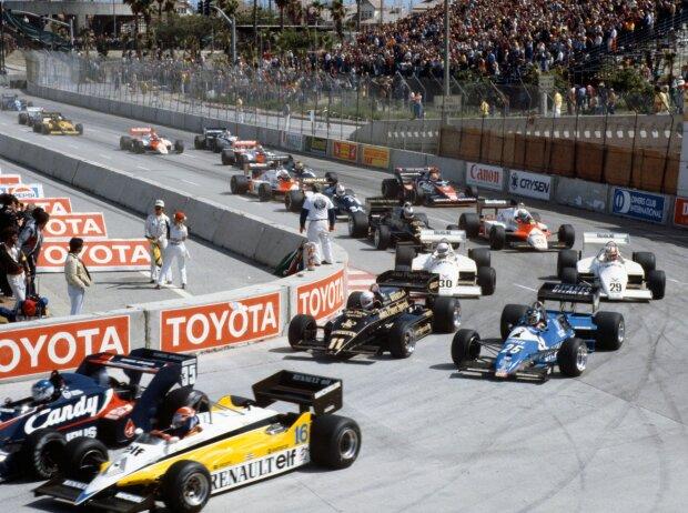 Derek Warwick, Eddie Cheever, Elio de Angelis, Nigel Mansell, Andrea de Cesaris, John Watson, Niki Lauda