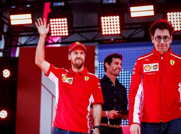 Sebastian Vettel und Mattia Binotto