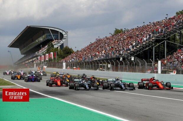 Lewis Hamilton Valtteri Bottas Sebastian Vettel Ferrari Ferrari F1Mercedes Mercedes F1 ~Lewis Hamilton (Mercedes), Valtteri Bottas (Mercedes) und Sebastian Vettel (Ferrari) ~