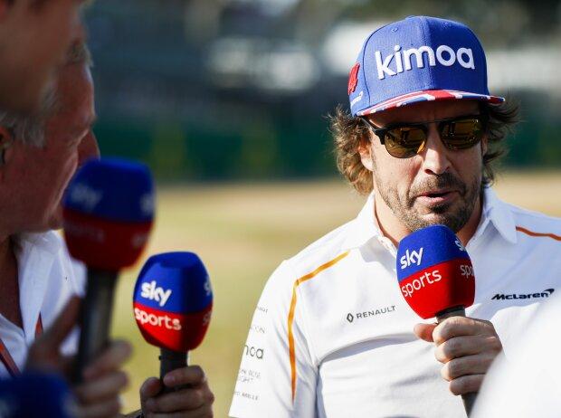 Paul di Resta, Martin Brundle und Fernando Alonso