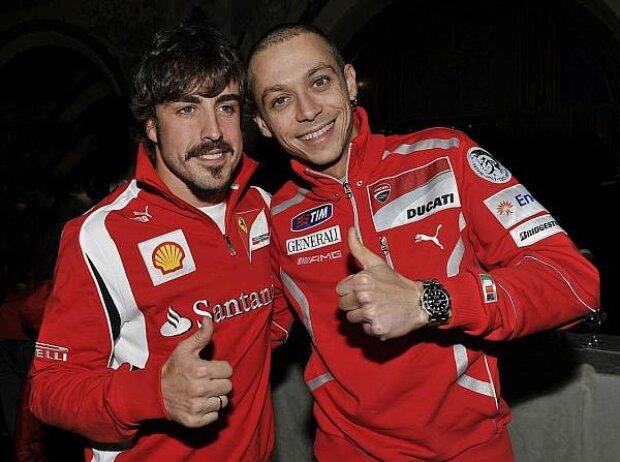 Valentino Rossi, Fernando Alonso
