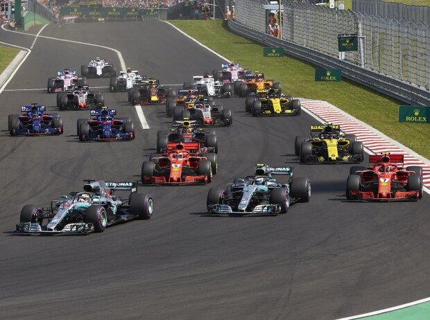 Lewis Hamilton, Valtteri Bottas, Kimi Räikkönen, Sebastian Vettel, Nico Hülkenberg, Pierre Gasly, Brendon Hartley