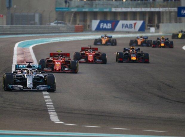 Lewis Hamilton, Charles Leclerc, Sebastian Vettel, Max Verstappen