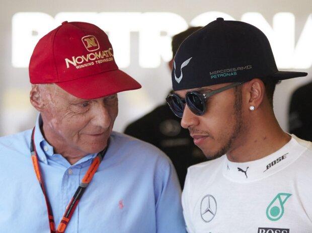 Niki Lauda, Lewis Hamilton