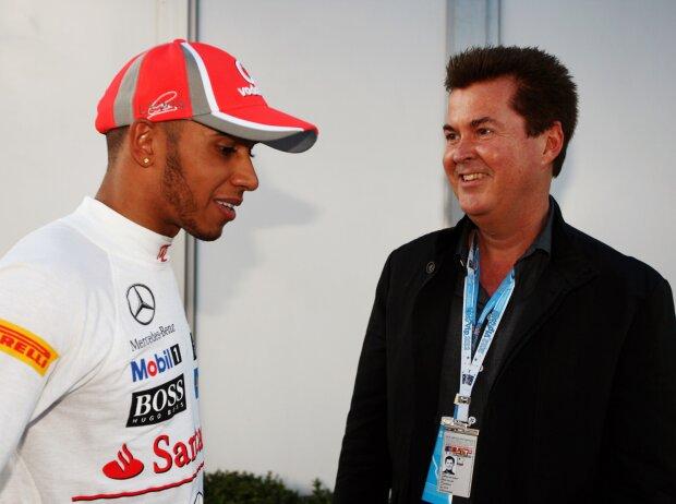 Lewis Hamilton und Simon Fuller