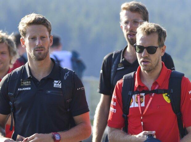 Romain Grosjean, Sebastian Vettel