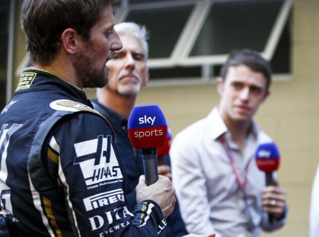 Romain Grosjean, Damon Hill, Paul di Resta